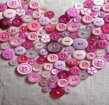 valentine crafts: crochet heart, buttons heart pillow for valentine