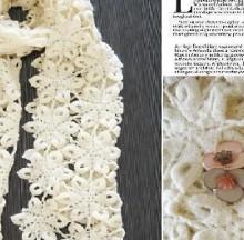 crocheted scarf: bouncy girl
