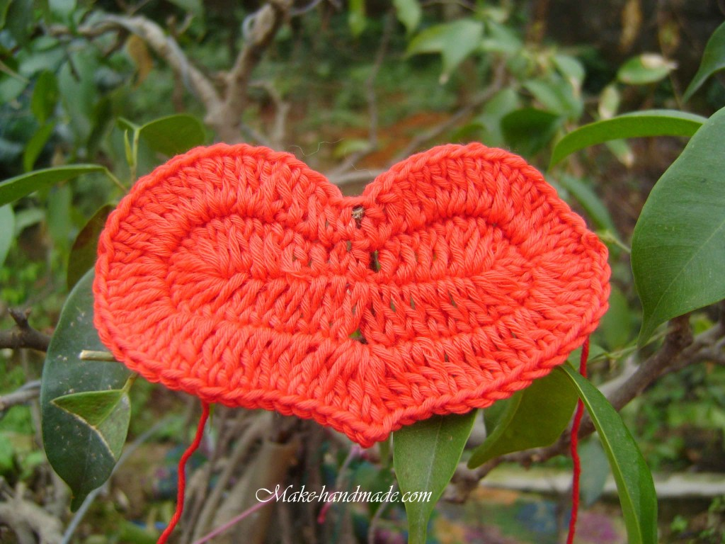 Crochet Tutorial Heart : crocheted heart ornament for valentine make handmade, crochet, craft