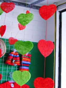 sweet heart garland for valentine