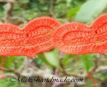 crocheted heart ornament for valentine