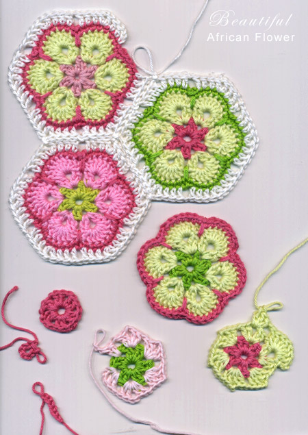 Make Crochet Flower Pattern : african flower / paperweight granny: free crochet patterns ...