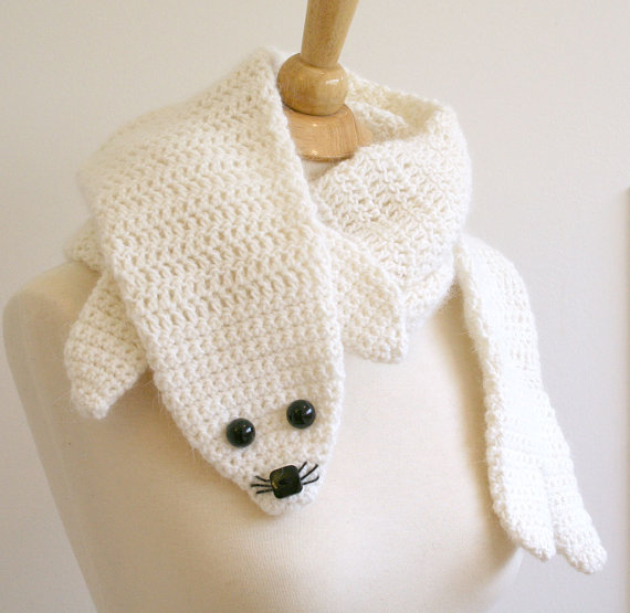 animal scarf crochet patterns, ooak animal scarves make handmade, crochet, ...