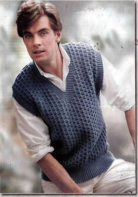 Knitting Pattern Mens Vest Free : beautiful vest for men, knitting patterns make handmade, crochet, craft