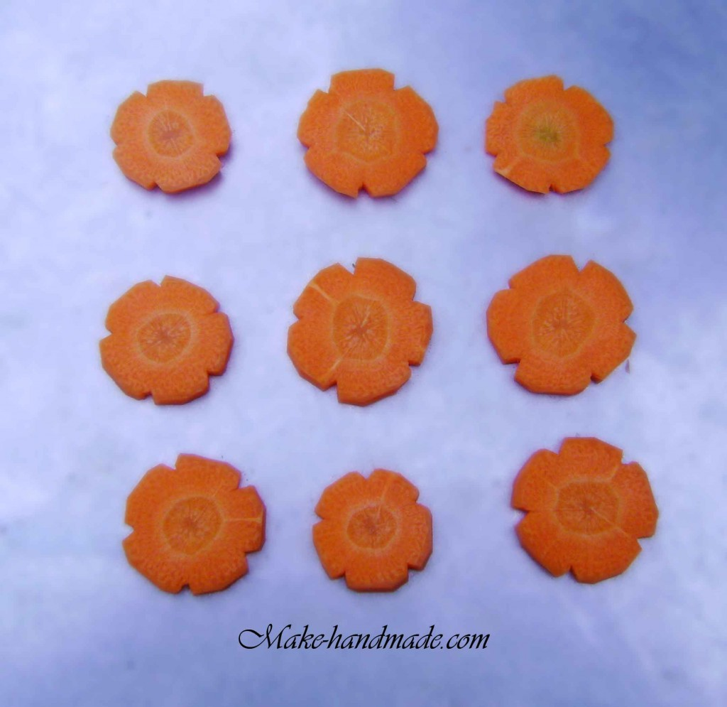 carving apricot flowers for new year.