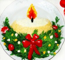 christmas craft ideas: candle salad for christmas