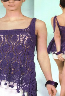 fashion gifts for women: lace purple top, free crochet patterns