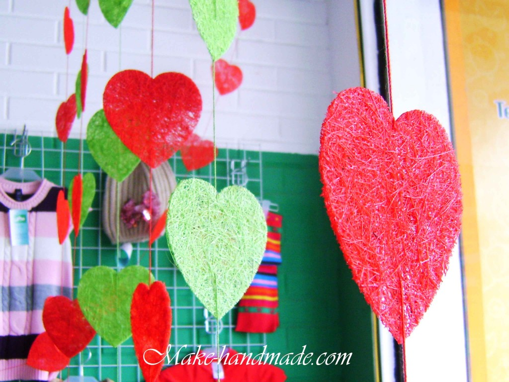 valentine craft ideas: sweet heart garland tutorial
