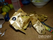 origami tutorial: gold packet gold fish