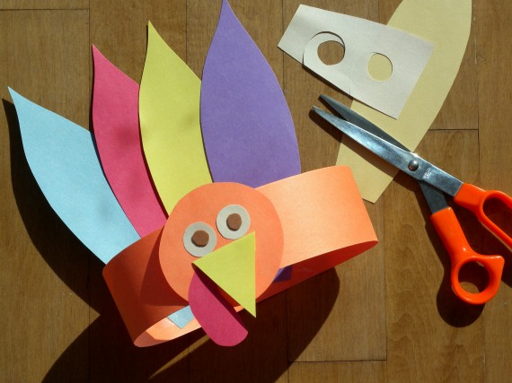 Paper crafts for kids Gobble Gobble Turkey Hat for Thanksgiving Craft For Kids To Make A Turkey