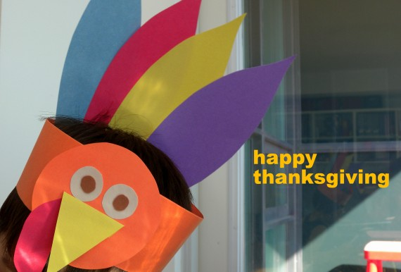 paper crafts for kids: gobble, gobble turkey hat for thanksgiving