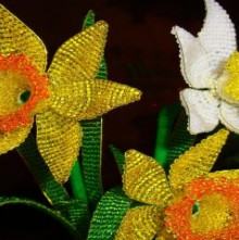 spring crafts: beaded narcissus tutorial