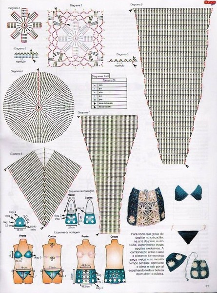 summer fashion for women: crocheted swimsuits  make handmade crochet