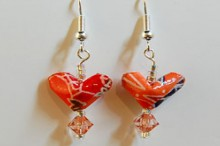 valentine gifts: origami heart earrings