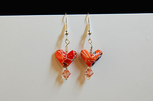Your Origami Heart Earrings DONE!