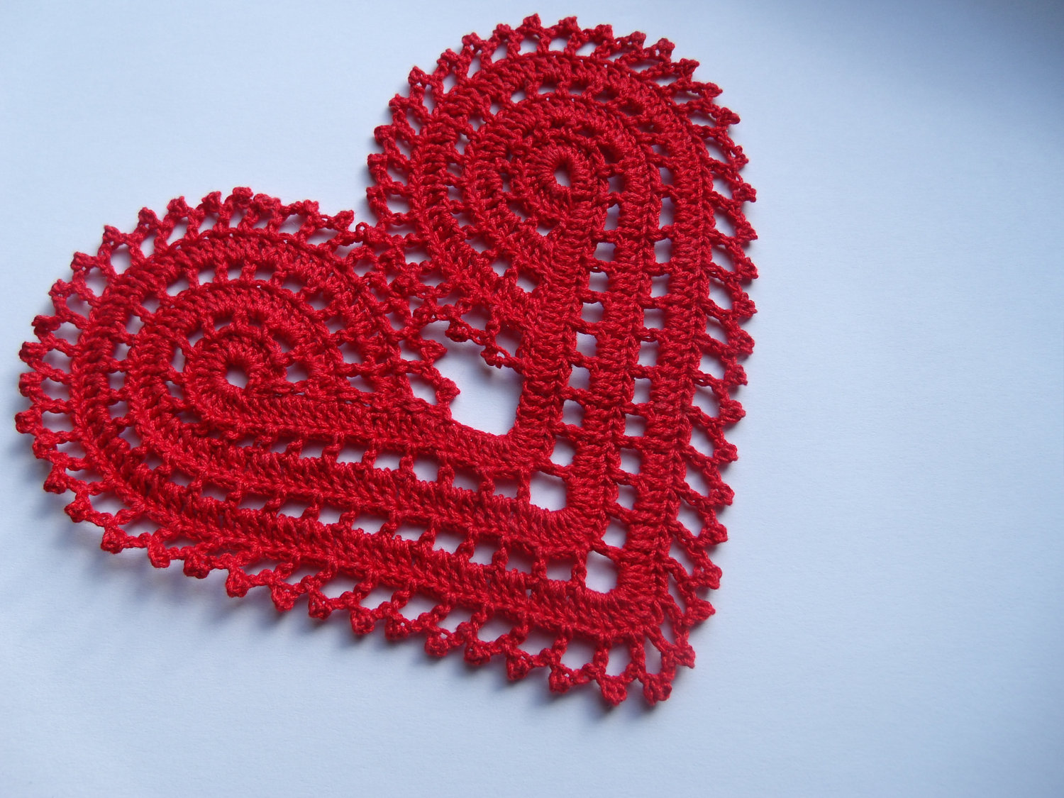 valentine gifts for women: crocheted heart for fashion ...