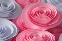valentine handmade gifts: flowers out of paper video tutorial