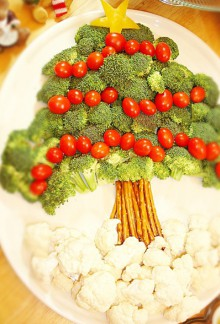 christmas craft ideas: vegetale christmas tree tutorial