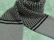 beautiful scarf for men: knitting tutorial