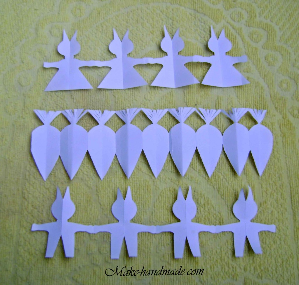 easter paper crafts for kids: bunny & carrot garlands | make