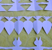 easter paper crafts for kids: bunny & carrot garlands
