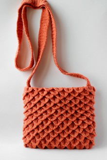 how to crochet bag handles – crocodile stitch bag, video tutorial