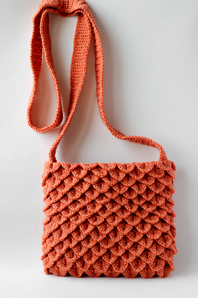 How To Make Crochet Purse : to crochet bag handles - crocodile stitch bag, video tutorial make ...
