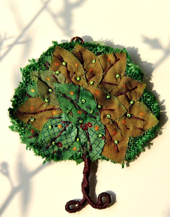 Handmade textile tree - Green Tree