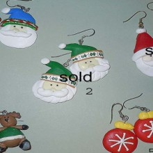 polime clay christmas earrings