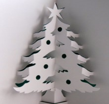 christma cards: 3d christmas tree cards more ideas