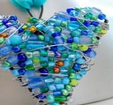 valentine gifts with beaded hearts