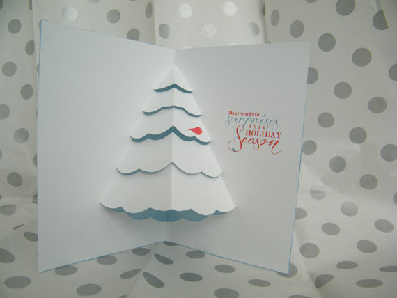 Set of 5 Pop Up Christmas Cards