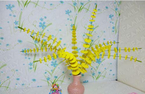 Цветы в вазу из подручных материалов своими руками