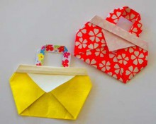 crafts for kids: folding cute bag