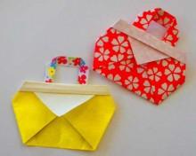 crafts for kids: folding cute bag