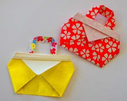 Crafts For Kids Folding Cute Bag Make Handmade Crochet Craft