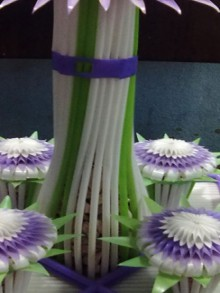 easy flowers made of straws