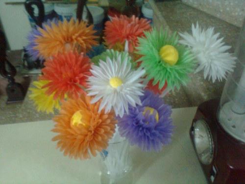 Цветок из трубочек для коктейля своими руками 699