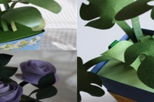 mothers' day gifts: paper plants tutorial