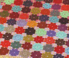 crochet colorful plaid or tableclothe