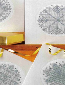 easy christmas cards: cross stitch snowflakes