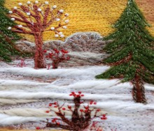 christmas craft ideas: embroidery christmas tree