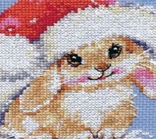christmas ideas: bunny santa cross stitch