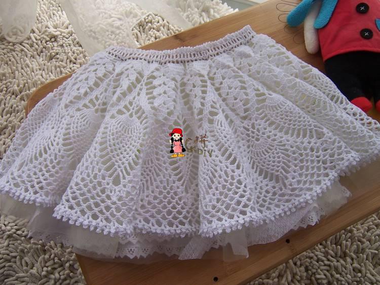 Вязанная юбка крючком для девочек