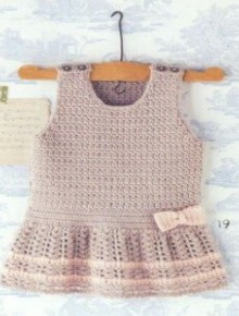 cute crochet pattern for baby dress