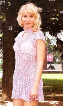 crochet mini dress or tunic for summer