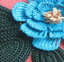 crochet bag with large flower
