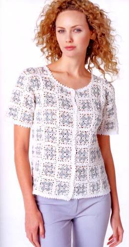 Crochet Blouse With Granny Squares Make Handmade Crochet Craft