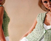 crochet blouse with sailor collar