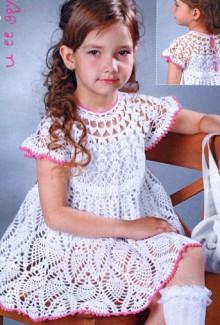 crochet dress for little girl